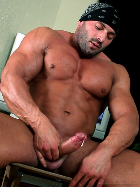 Final, black muscle men with big cocks join. was